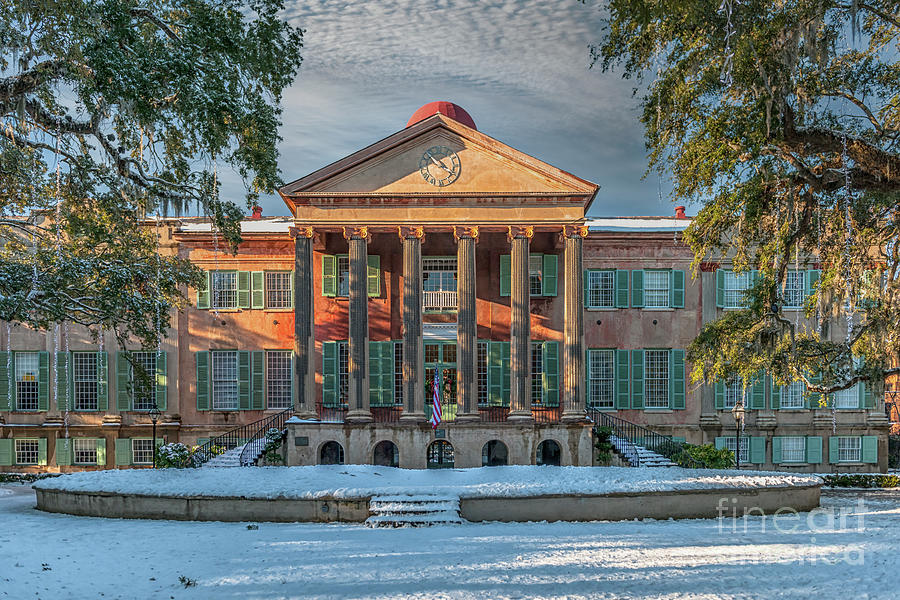 Winter Snow - College Of Charleston Photograph