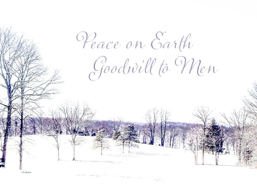 Winter Snowy Landscape Christmas Card Photograph