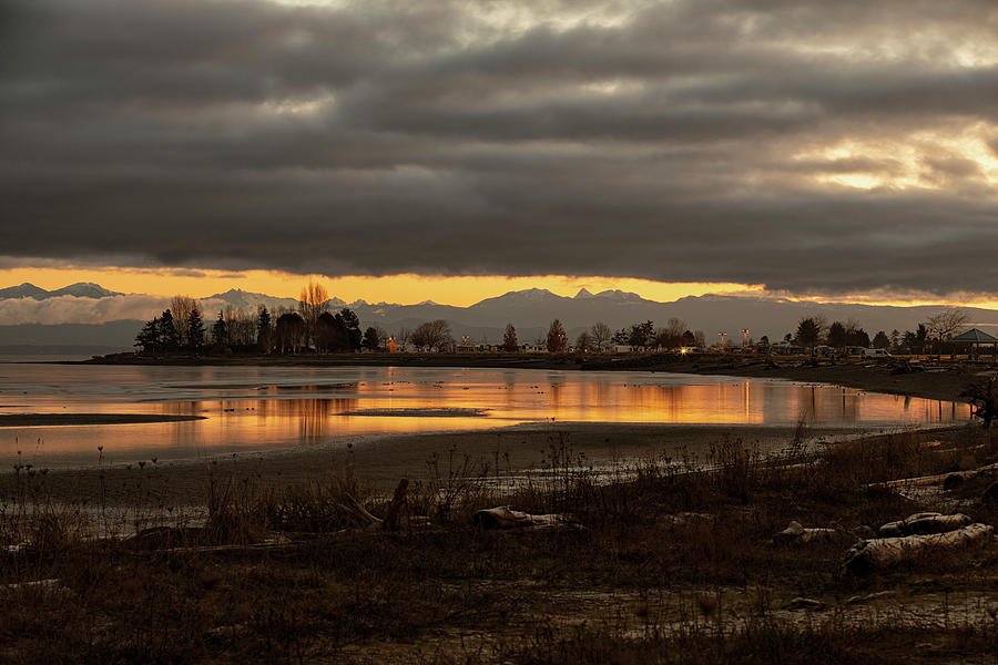 Winter Sunrise On Parksville Bay Photograph