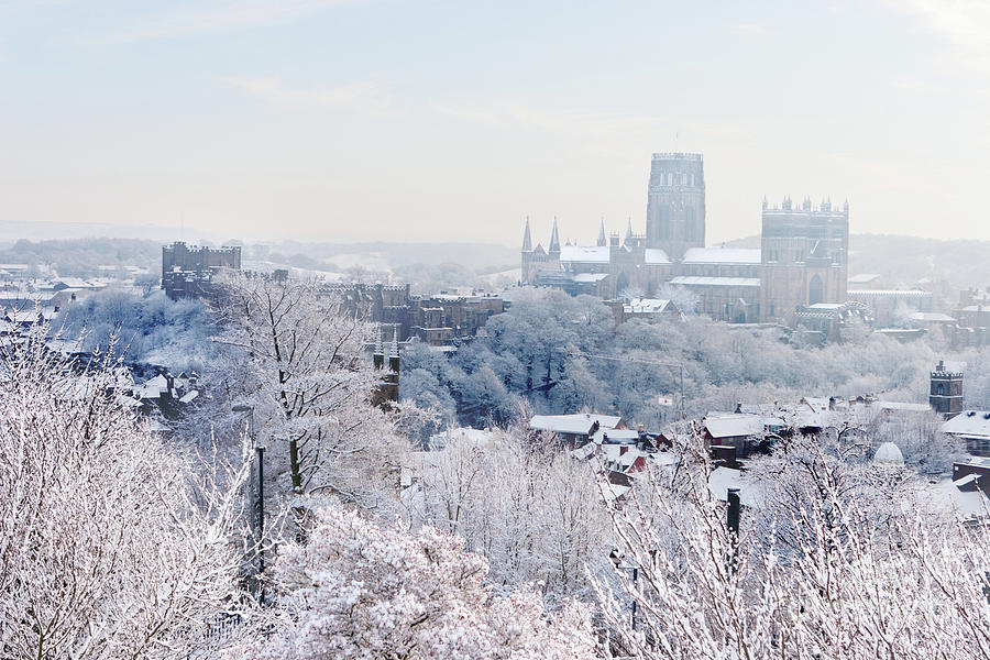 Winter view across Durham City by Bryan Attewell