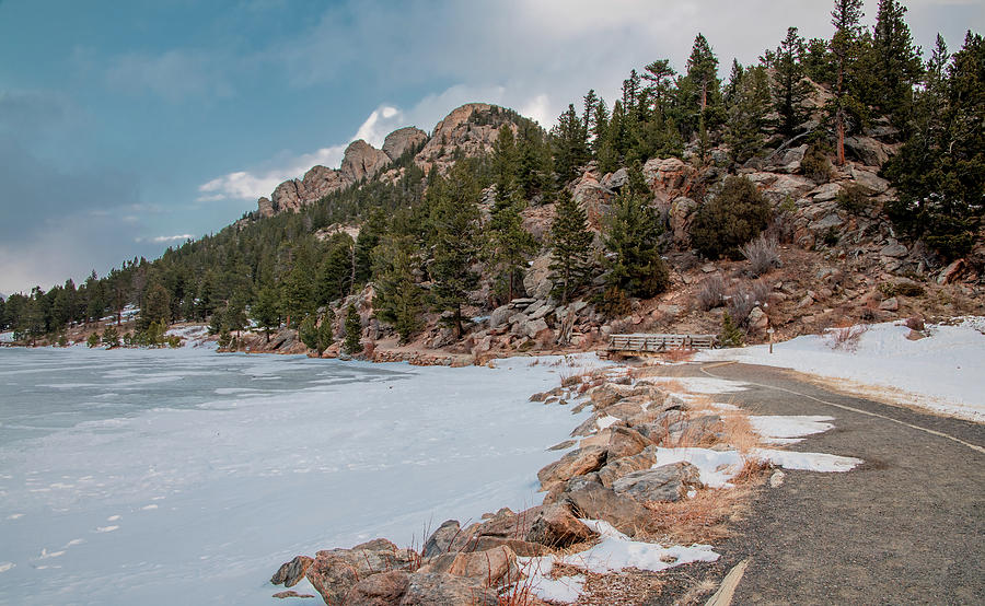 Winter Walk at Lily Lake, Rocky Mountain National Park by Marcy Wielfaert