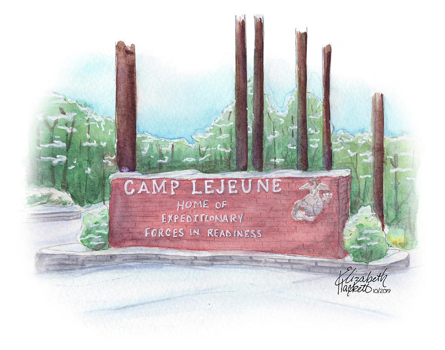 Winter Welcome at Camp Lejeune by Betsy Hackett