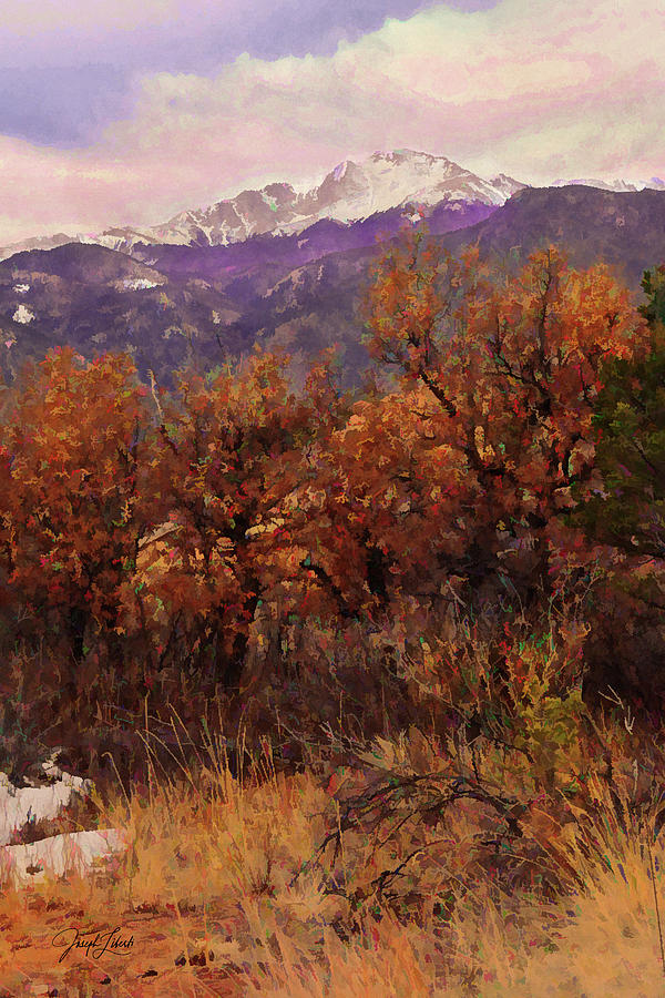 Garden Of The Gods Digital Art - Winter_Peak_20210307 by Joseph Liberti