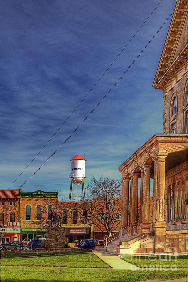 Travel Photograph - Winterset Iowa by Larry Braun