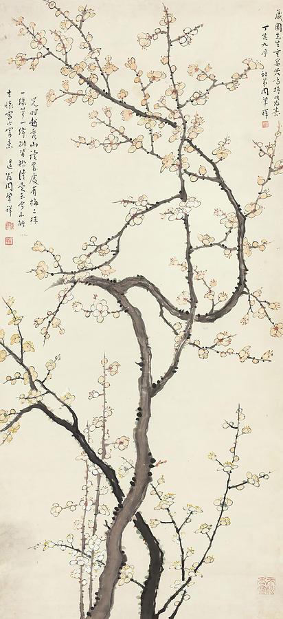 Zhao Painting - Wintersweet  by Zhao Xiang Zhou