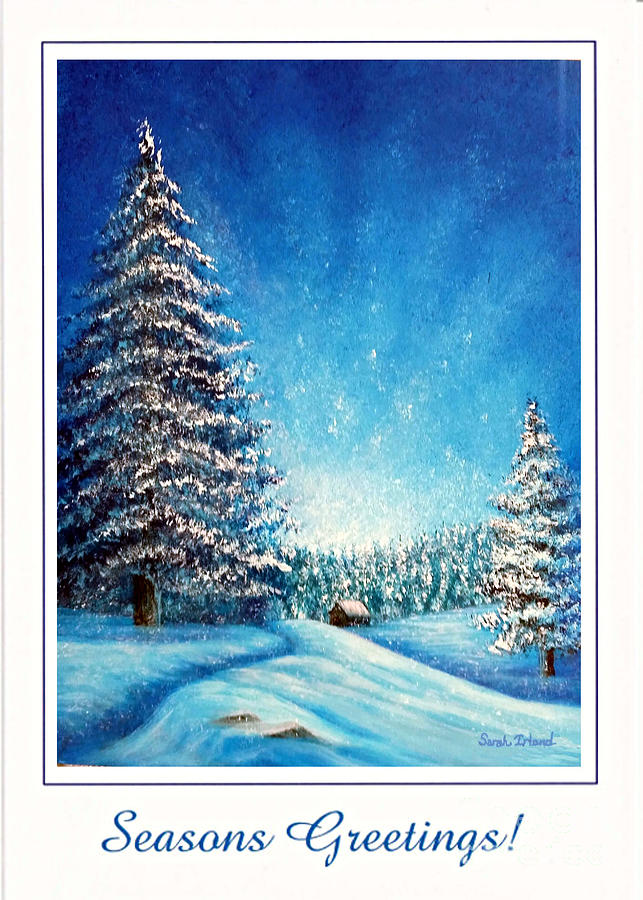 WINTRY LIGHT -  SEASONS GREETINGS by Sarah Irland