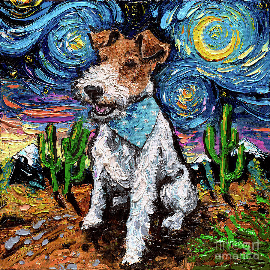 Fox Terrier Painting - Wire Fox Terrier by Aja Trier
