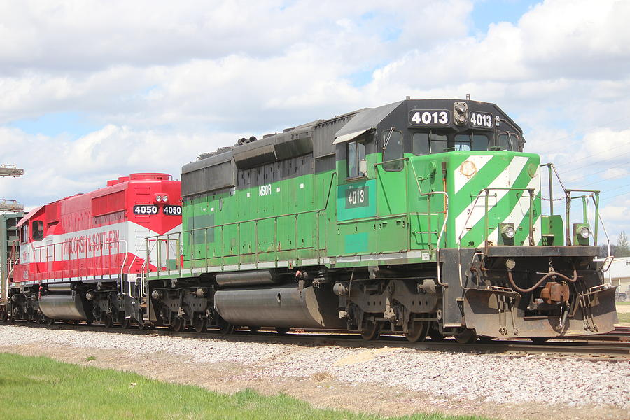 Train Photograph - Wisconsin And Southern Engines by Callen Harty