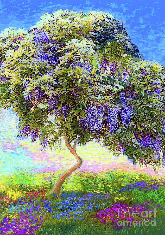 Landscape Painting - Wisteria Tree by Jane Small