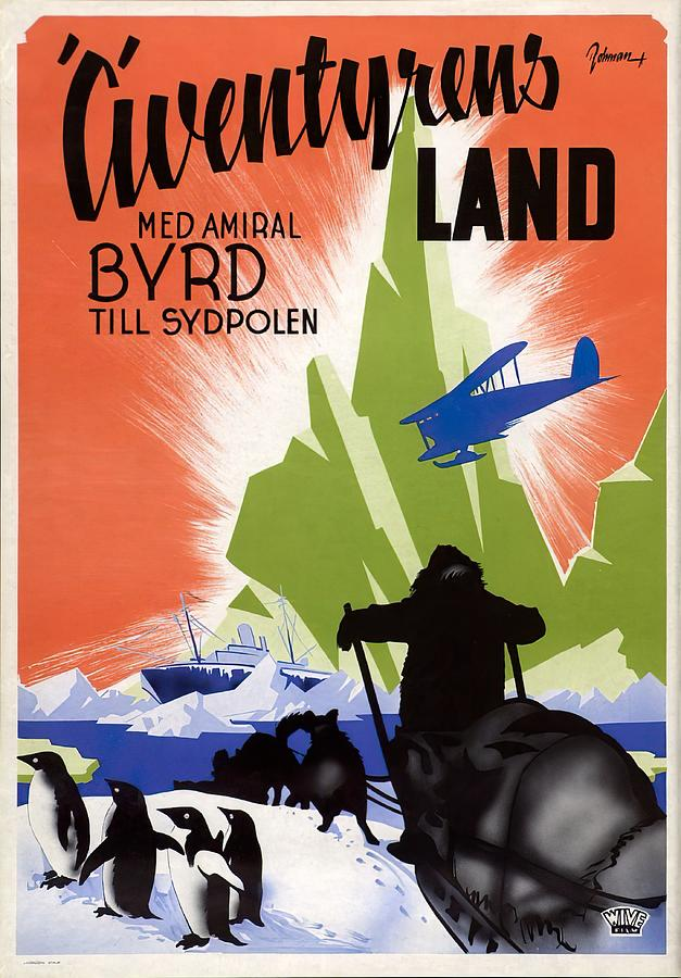 with Byrd At The South Pole, 1930 Mixed Media