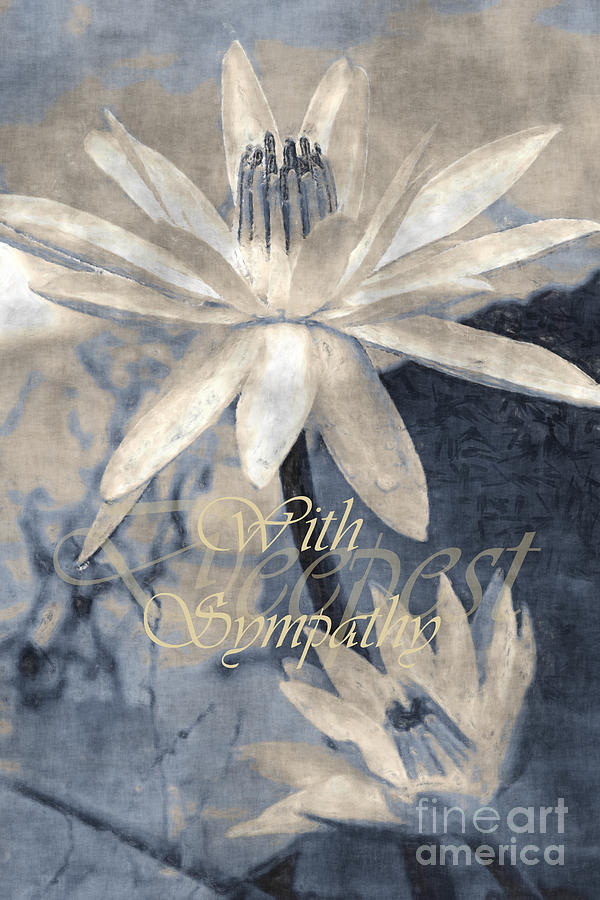 With Sympathy, Water Lilies by Banyan Ranch Studios