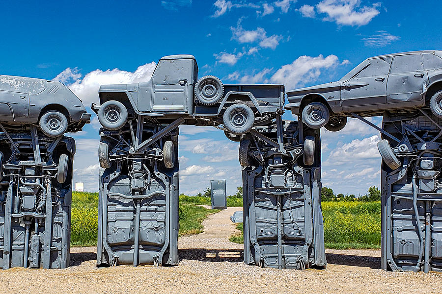 Within The Circle - Carhenge Photograph