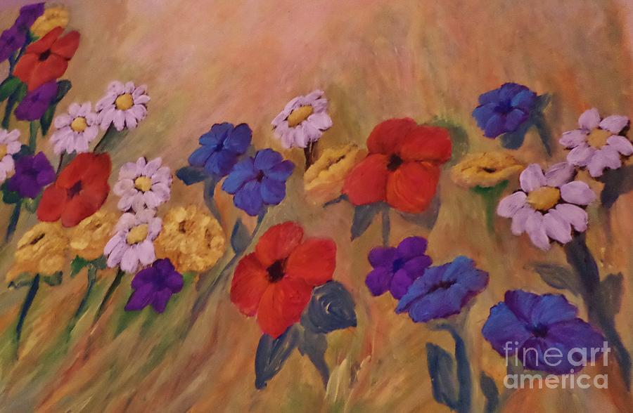 Without Words Wildflowers Painting