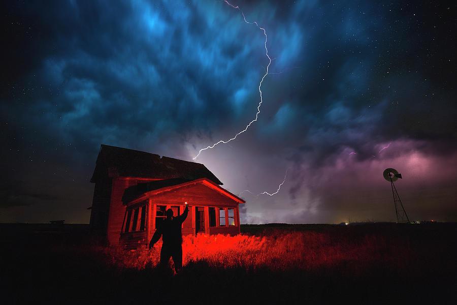 Lightning Photograph - Wizard by Aaron J Groen