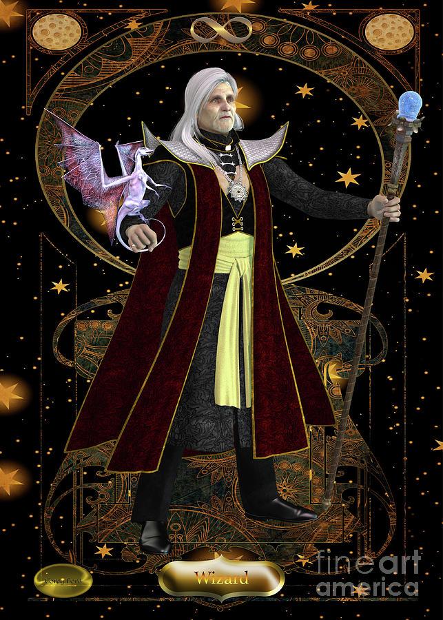 Wizard Card Digital Art