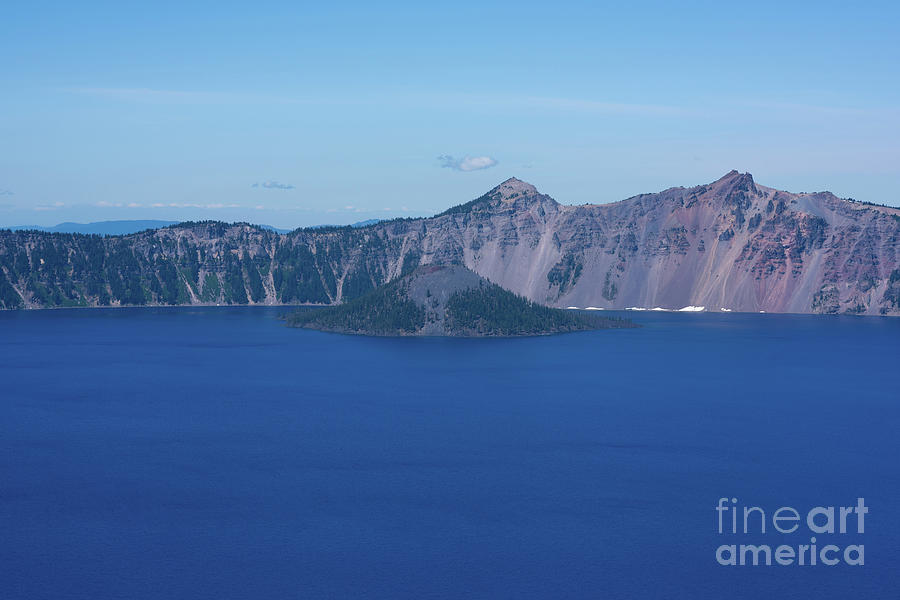 Crater Lake Photograph - Wizard Island by Michael Ver Sprill