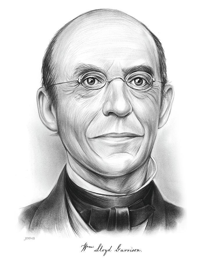 William Lloyd Garrison Drawing - Wm Lloyd Garrison - Pencil by Greg Joens