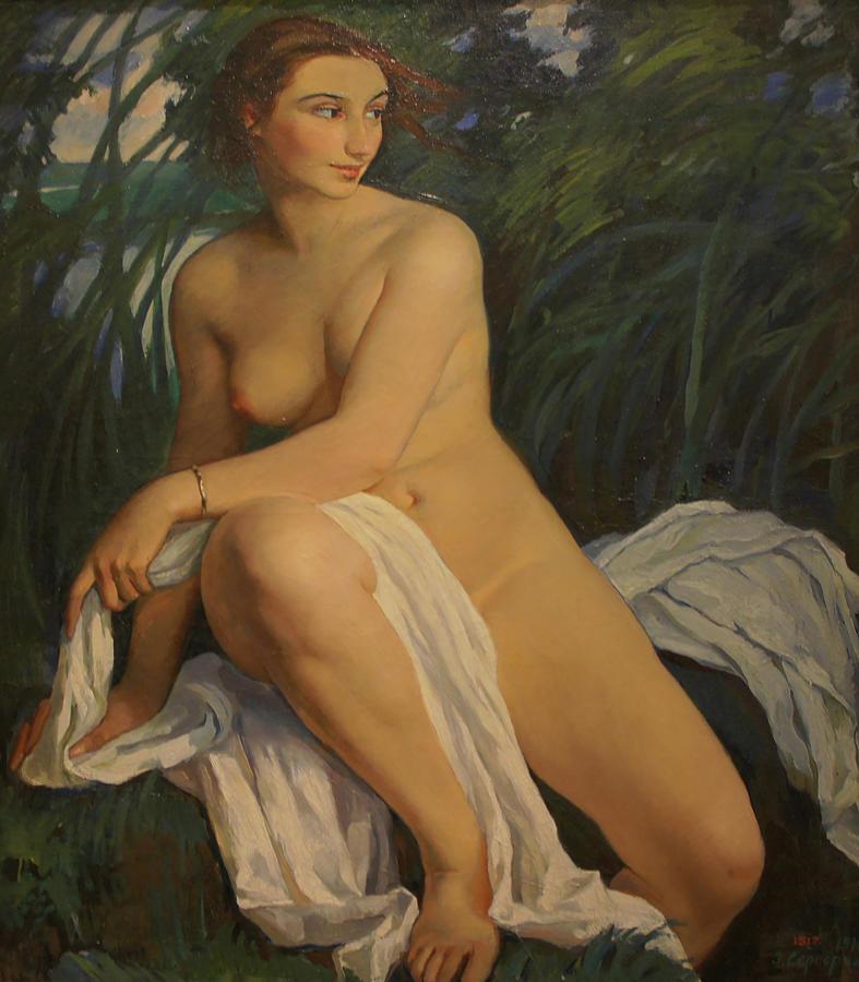 Woman Bather Painting by Zinaida Serebryakova
