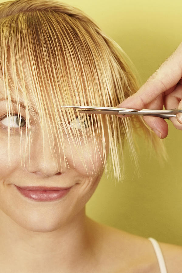 Woman having Hair Cut Photograph by Dimitri Otis