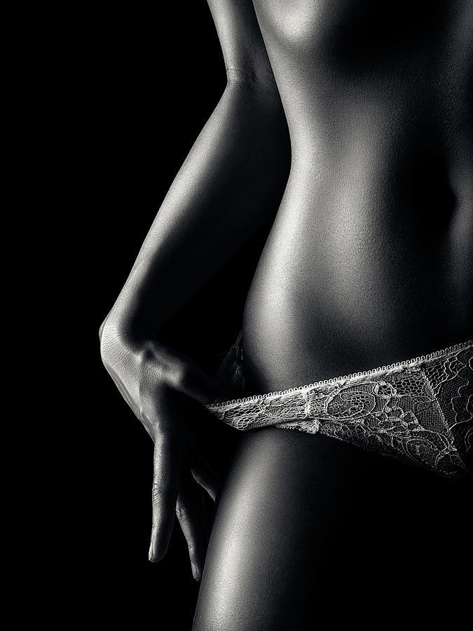 Woman in pantie closeup 2 by Johan Swanepoel