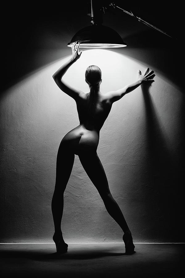Woman In The Spotlight 2 Photograph