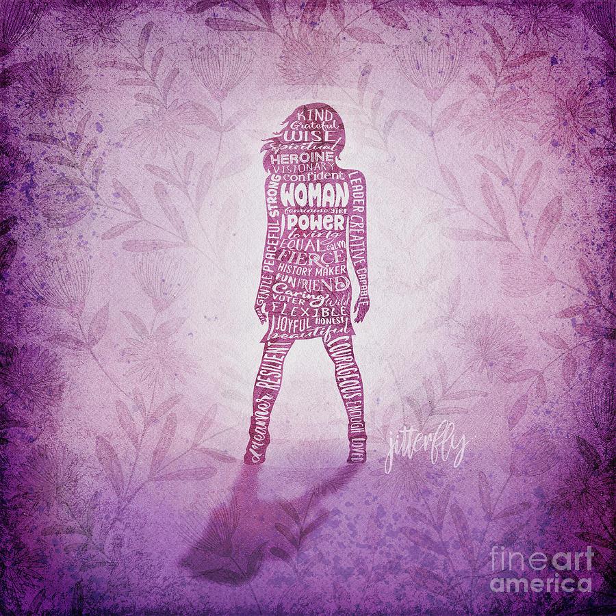 Woman Digital Art - Woman Power Superhero by Laura Ostrowski