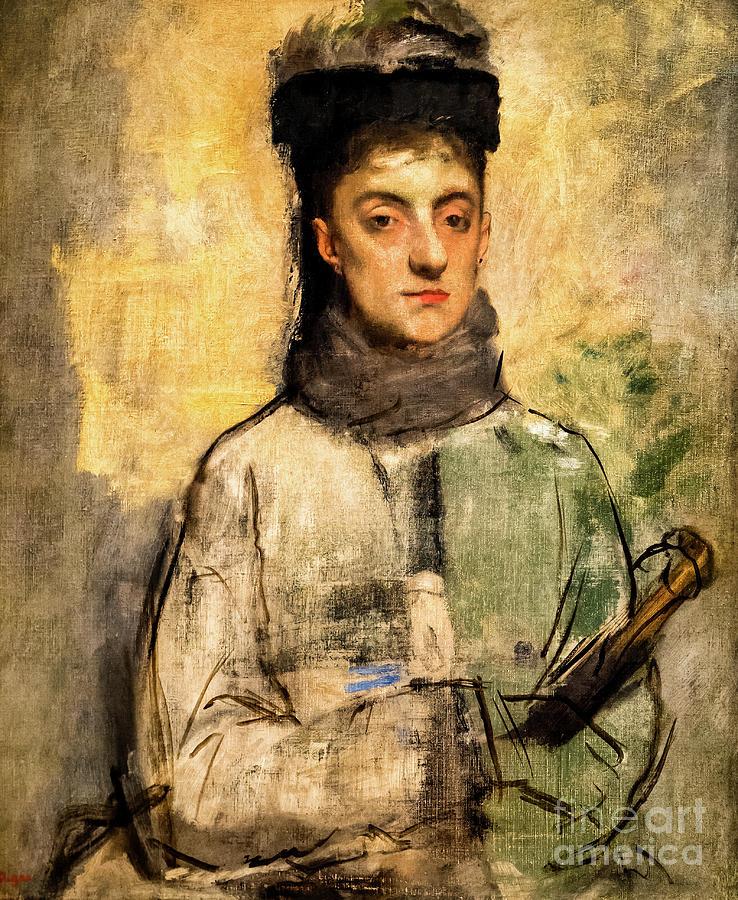 Woman with an Umbrella by Degas by Edgar Degas