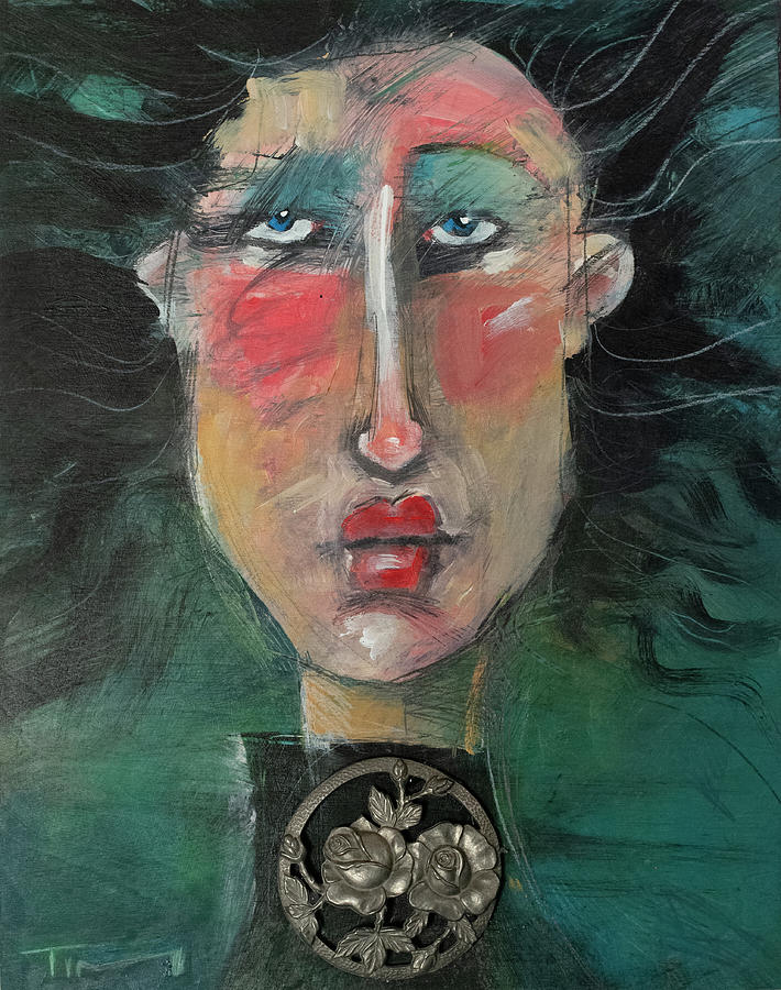 Woman with Found Object by Tim Nyberg