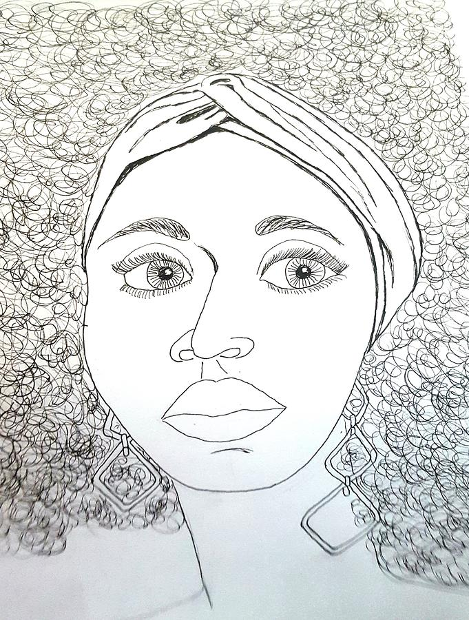 Woman with Headband  by Karen Buford