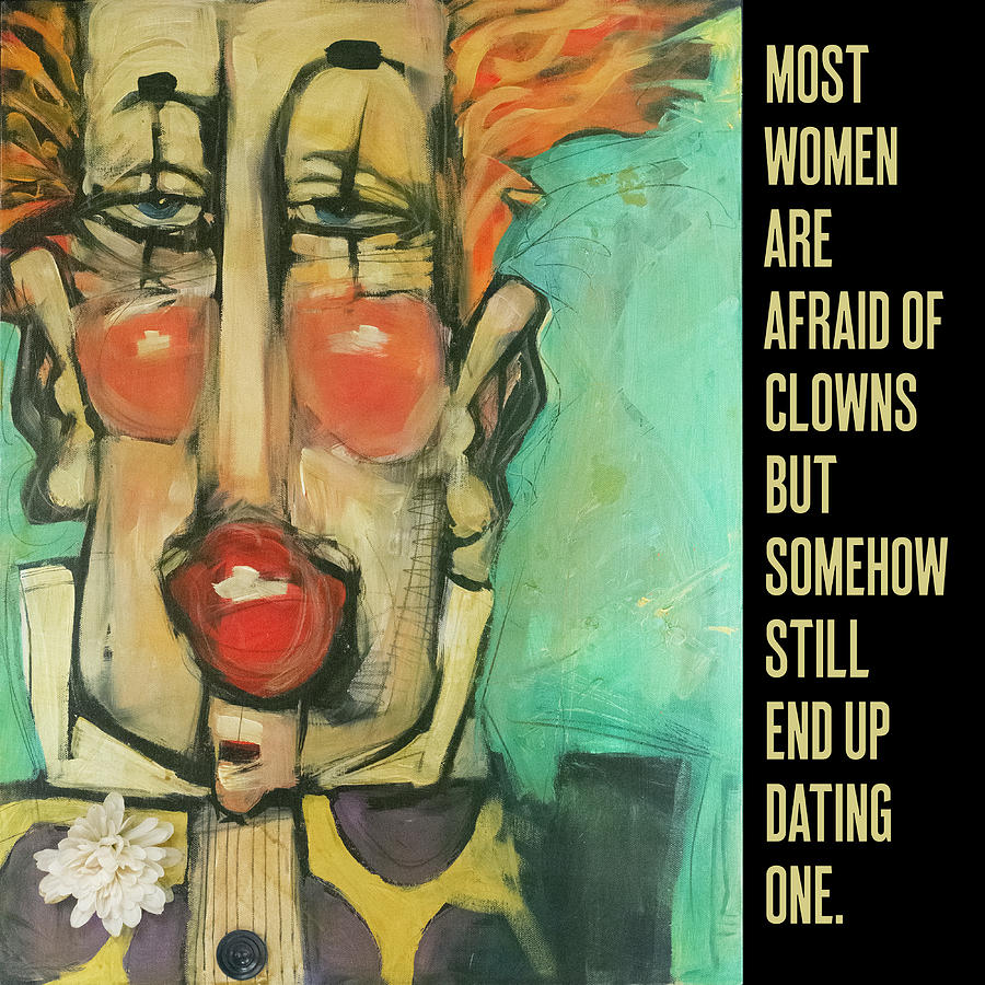 women and clowns poster by Tim Nyberg