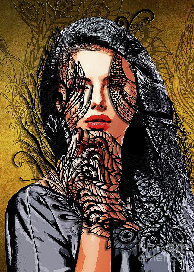 Women Femme Fatale #women Digital Art