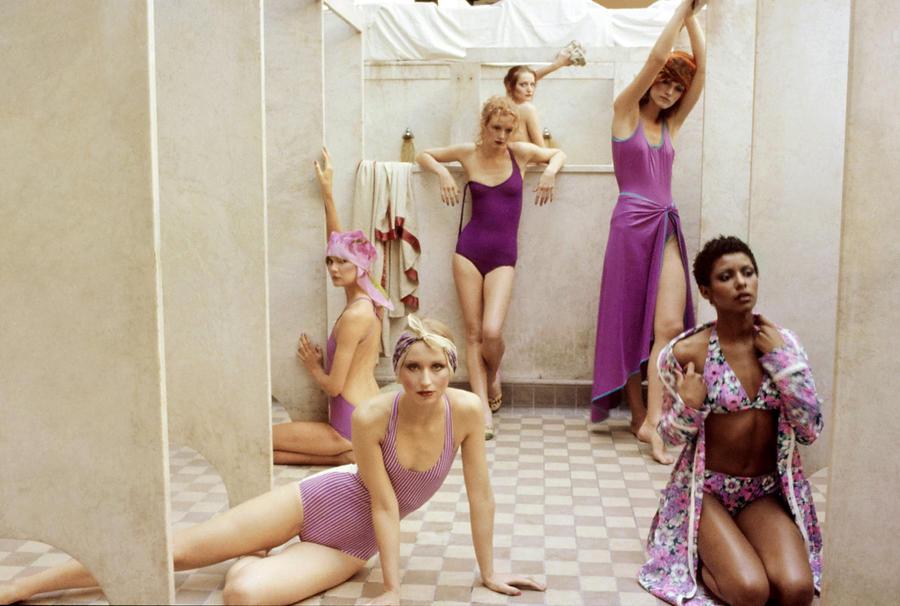 Women in a Bath House Photograph by Deborah Turbeville