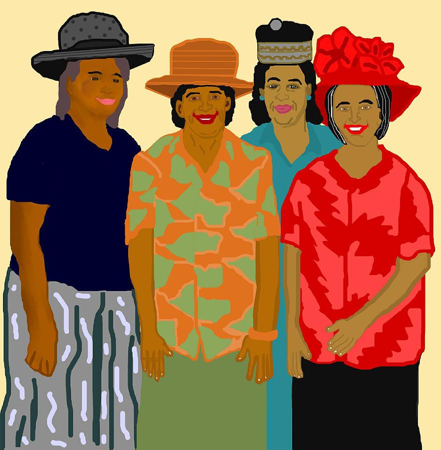 Women Painting - Women of the Church by Pharris Art