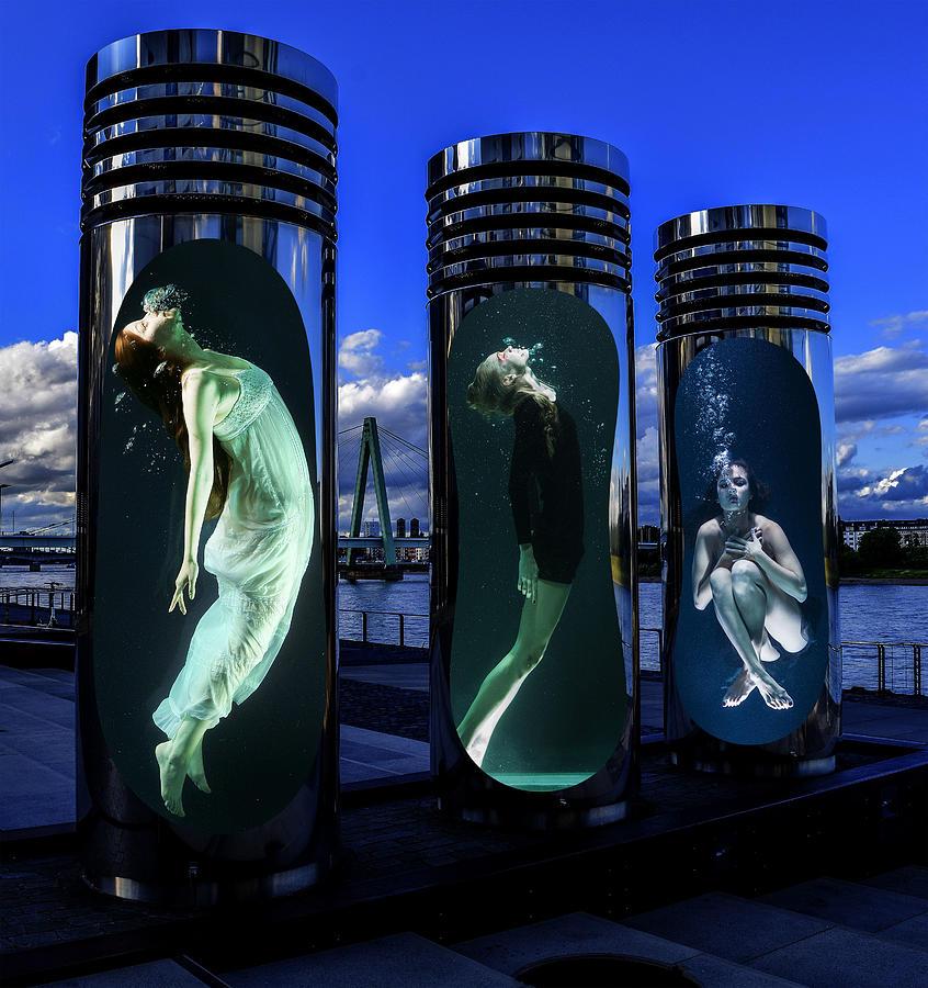Women Water Chamber Digital Art