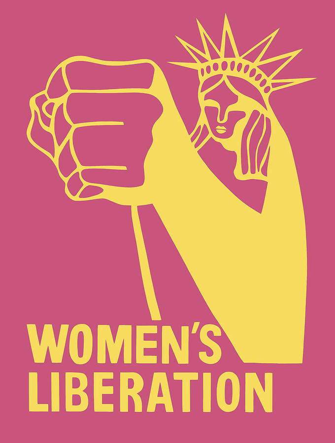 Womens Liberation Graphic - Statue Of Liberty - 1970 Digital Art