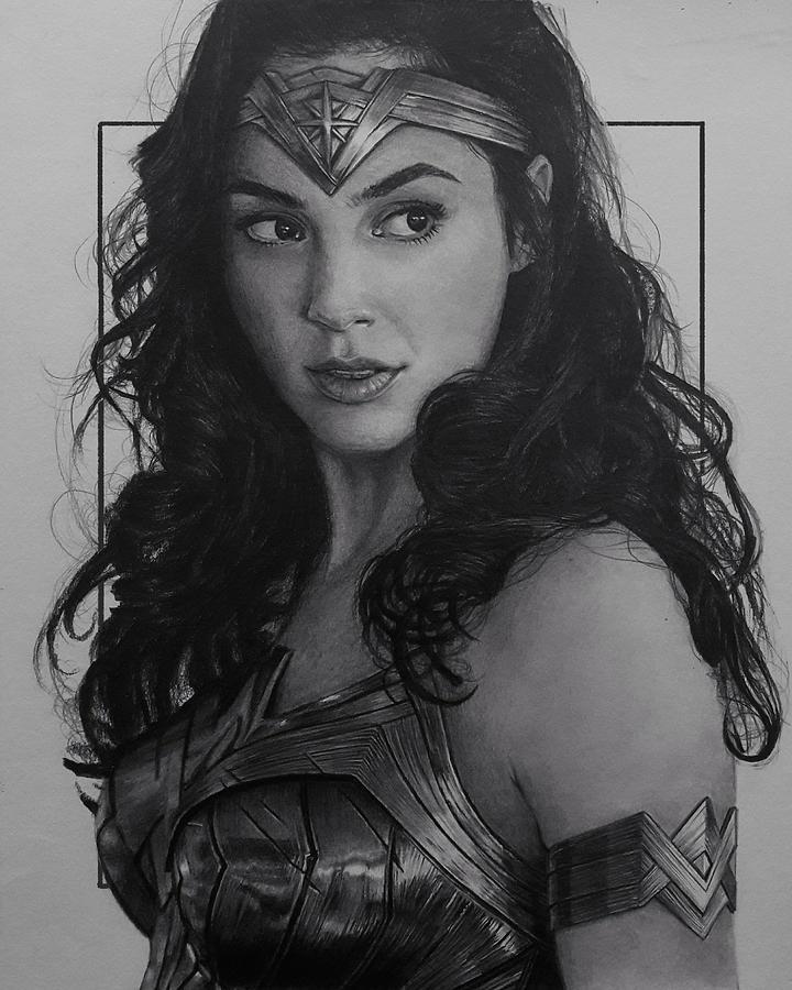 Wonder Woman Drawing By Sumit Mondal