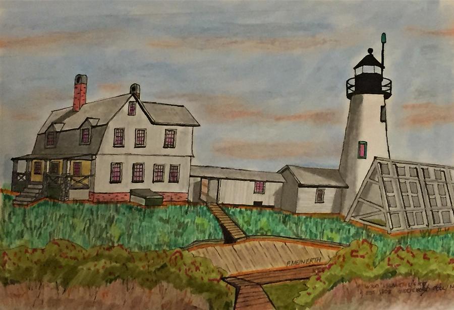 Wood Island Light Drawing