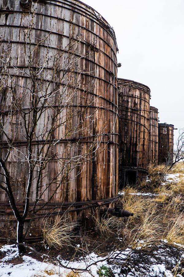 Wooden Oil Barrels Photograph by Peyton Vaughn
