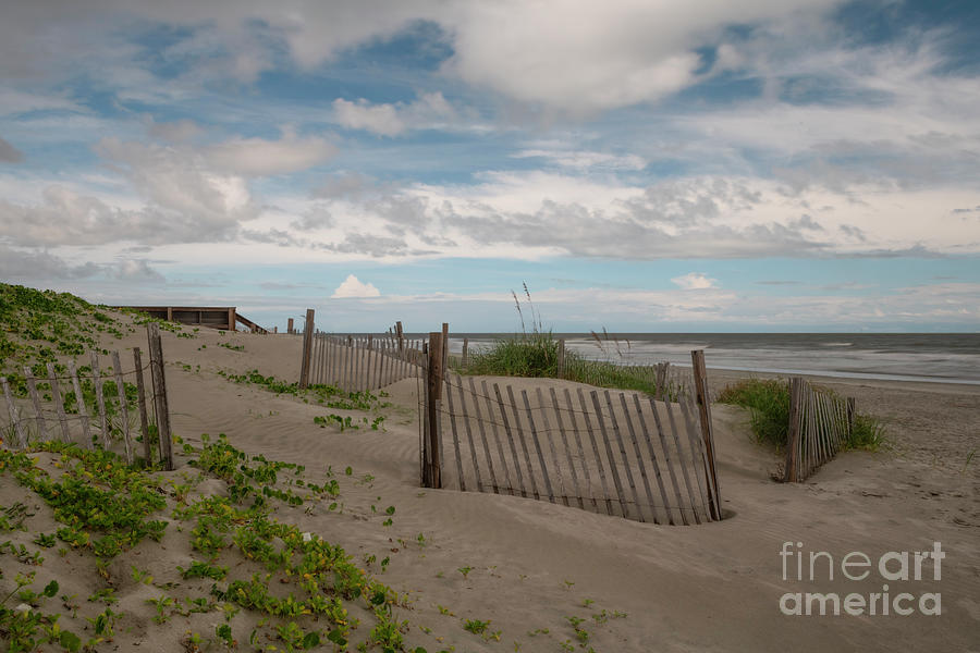Wooden Picket Fence - Sand Dunes - Isle Of Palms Photograph