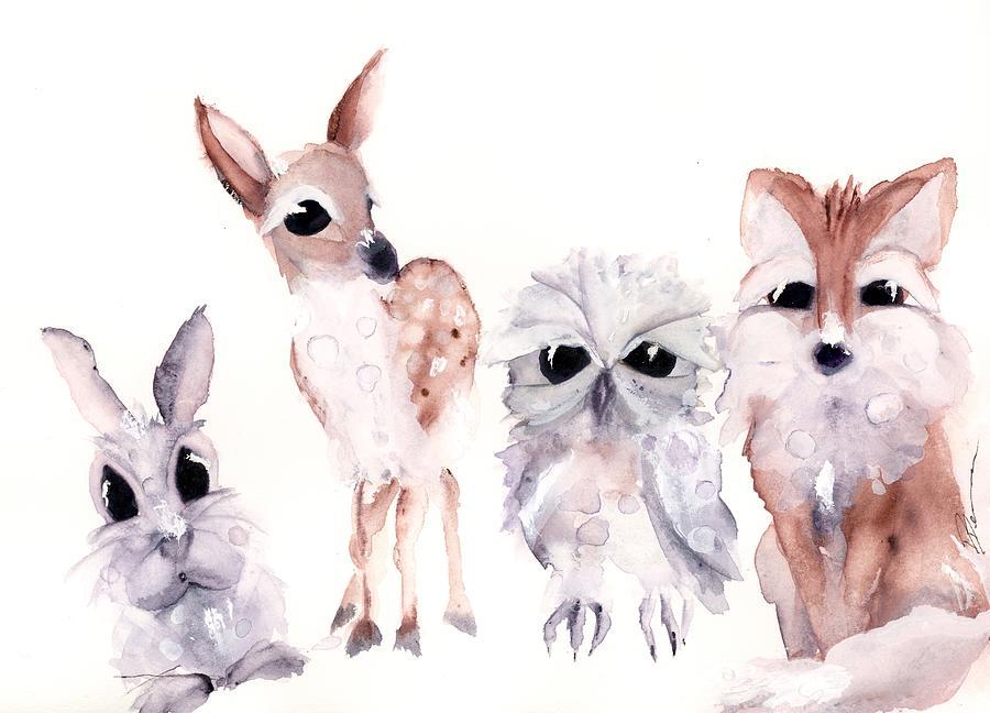 Woodland Friends by Dawn Derman