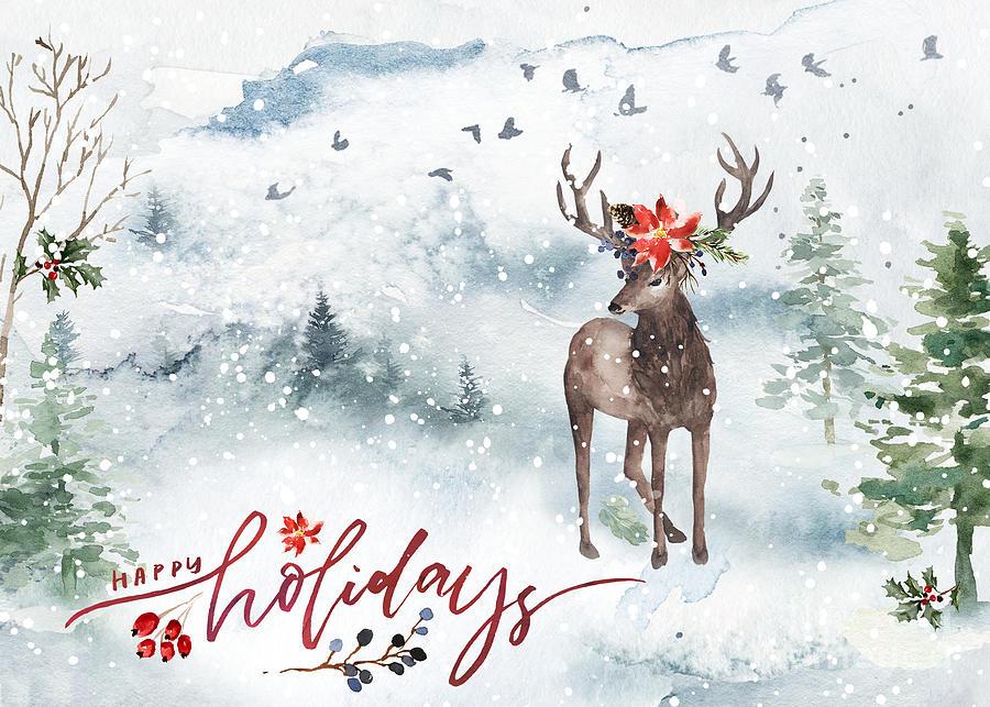 Woodland Holiday Art by Anita Pollak