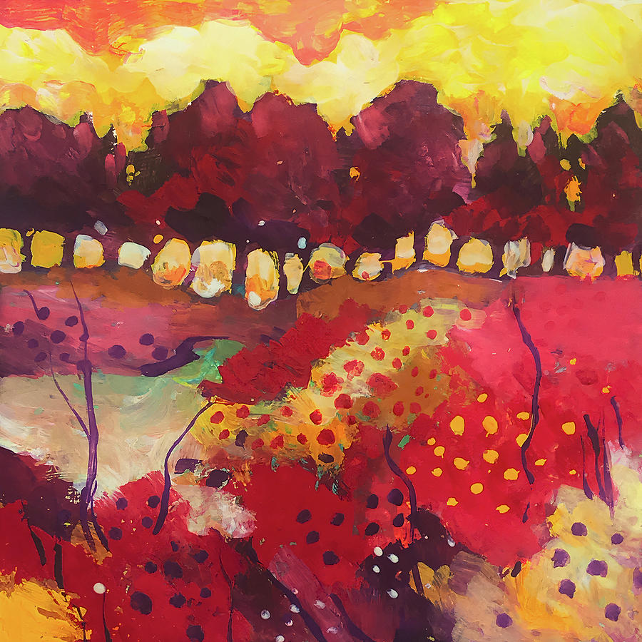 Landscape Painting - Woodland in full colors by Alessandro Andreuccetti