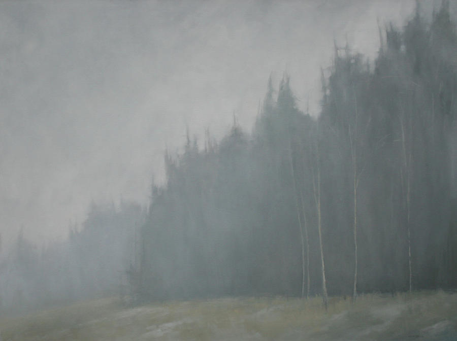 Woods Whisper Painting by Mary Jo Van Dell