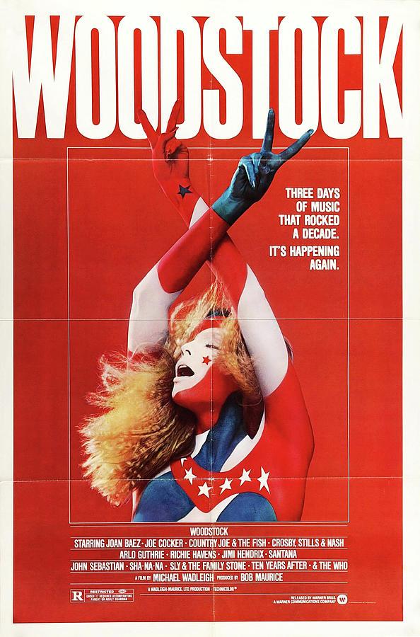 woodstock, Movie Poster 1970 Mixed Media