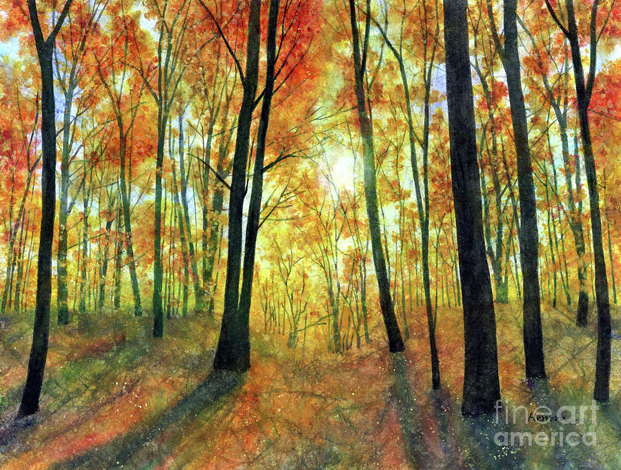 Woodsy Retreat-pastel Colors Painting