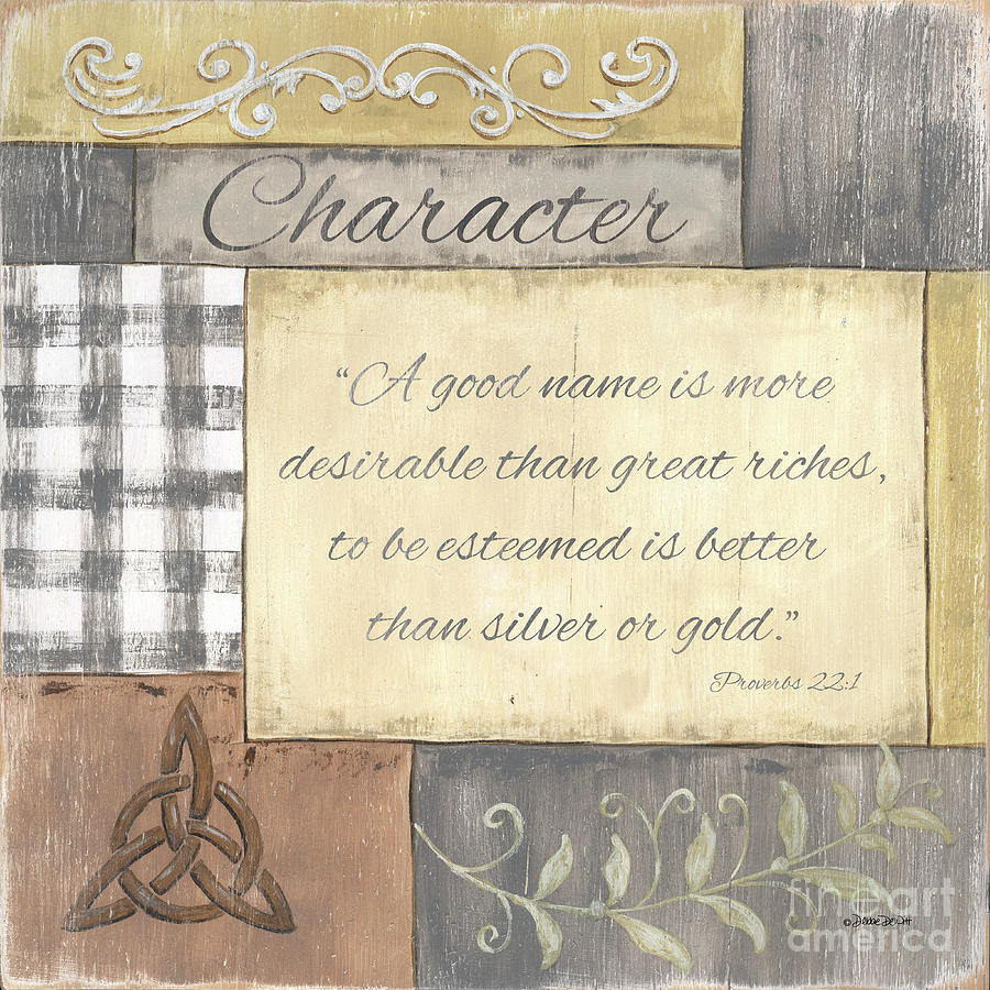 Words To Live By 2, Character Painting