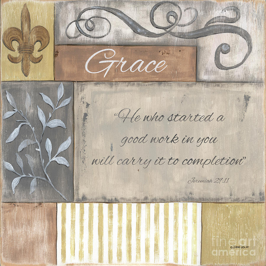 Words To Live By 2, Grace Painting