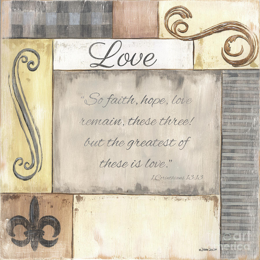 Words To Live By 2 Love Painting