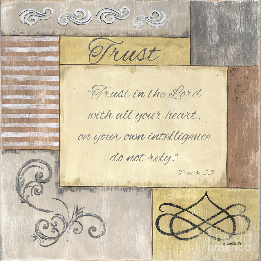 Words To Live By 2, Trust Painting