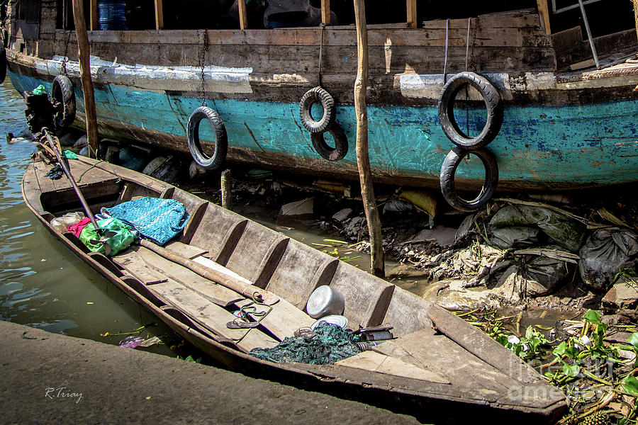 Vietnamese Work Boats on the Mekong Delta by Rene Triay Photography